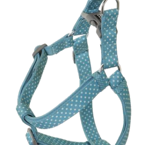 Blue and White Spots Harness